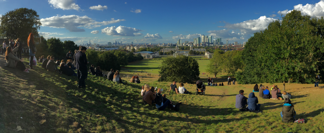 View of London from the Royal Observatory, Greenwich